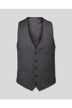 N Stripe Birdseye Travel Suit Wool Waistcoat - Size 36R by Charles Tyrwhitt