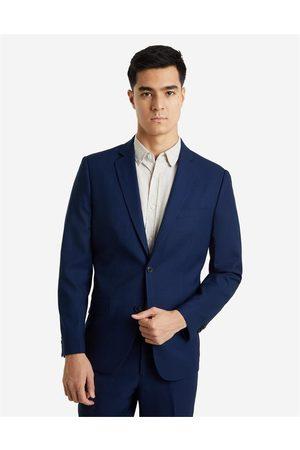 Hallensteins Men Business - Lille Merino Stretch Slim Suit Jacket in Navy