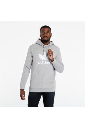 adidas Adidas Trefoil Hoodie Medium Grey Heather
