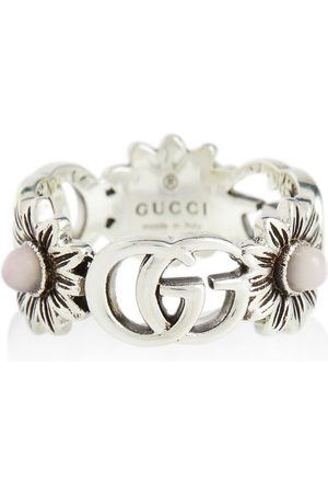Gucci Women Rings - GG Marmont sterling ring with pearls