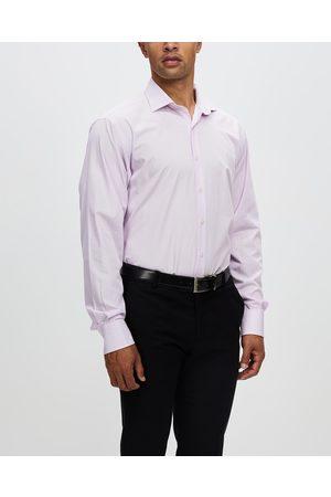 Van Heusen Textured Wash N Wear Shirt - Shirts & Polos (LILAC) Textured Wash-N-Wear Shirt