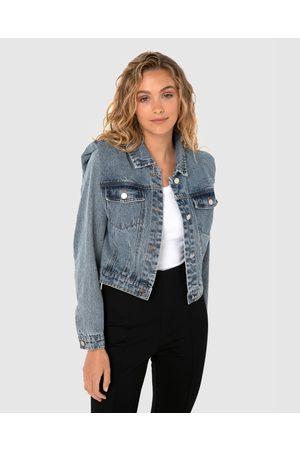 Madison The Label Arianna Denim Jacket - Denim jacket (Denim) Arianna Denim Jacket