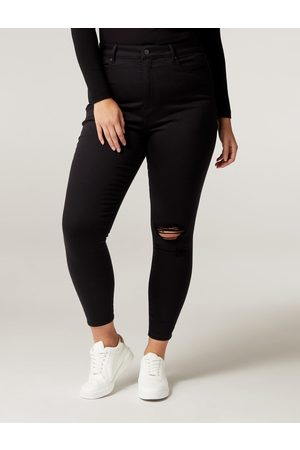 Forever New Bianca Curve Ripped Ankle Grazer Jeans