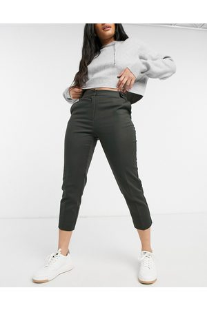 Oasis Compact cotton capri pants in -Green