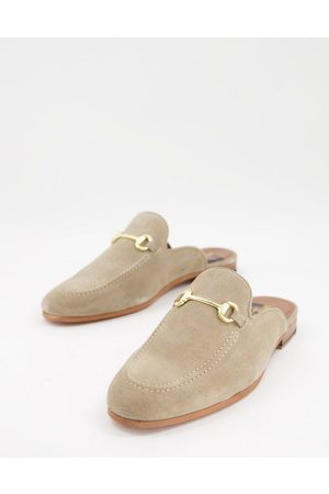 WALK LONDON Men Loafers - Terry bar backless mule loafers in suede-Neutral
