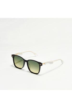 Evisu Monogram Daicock Print Square Sunglasses
