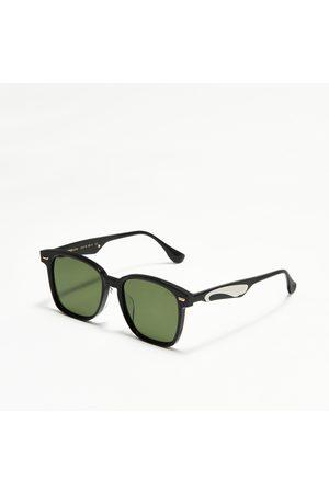 Evisu Sunglasses - Monogram Daicock Print Square Sunglasses