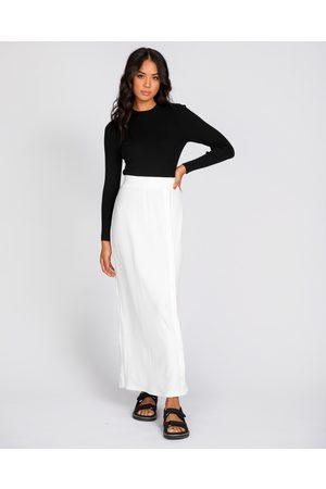 Rusty Clara Maxi Skirt - Skirts (WHT) Clara Maxi Skirt
