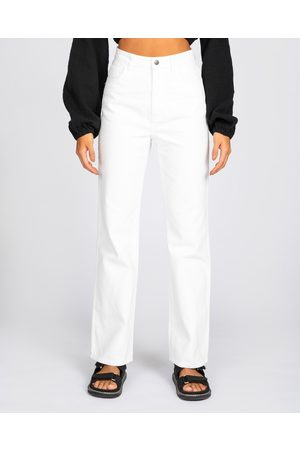 Rusty High Waisted Wide Straight Leg Wht - Wide Crop Jeans (WHT) High Waisted Wide Straight Leg - Wht
