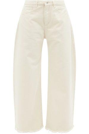 Marques'Almeida Women Bootcut & Flares - Frayed-cuff Organic-cotton Wide-leg Jeans - Womens