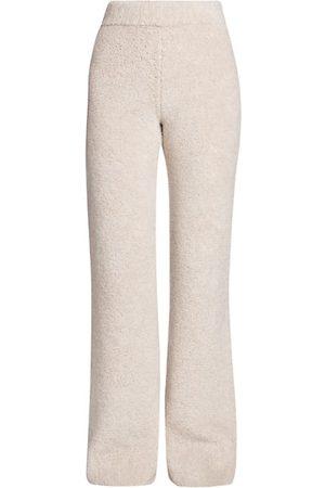 Palm Angels Fleece Knit Wool Pants