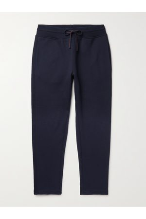 Loro Piana Tapered Double-Faced Cotton, Silk and Cashmere-Blend Jersey Sweatpants
