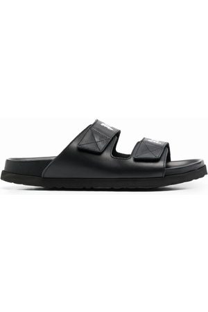 Palm Angels Logo print leather sandals
