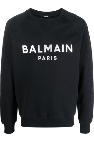 Balmain Men Sweatshirts - Logo-print raglan sweatshirt
