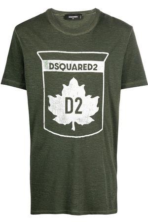 Dsquared2 Men Short Sleeve - Maple leaf-print T-shirt