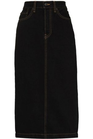 WARDROBE.NYC High-waisted denim pencil skirt