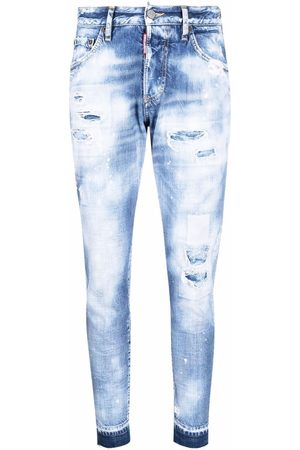 Dsquared2 Acid-wash slim-fit jeans