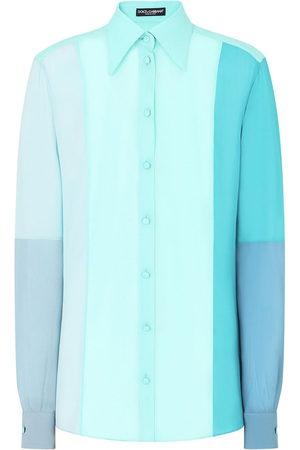 Dolce & Gabbana Women Long sleeves - Colour block long-sleeve shirt