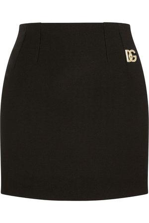 Dolce & Gabbana Logo-plaque pencil mini skirt