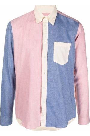 MACKINTOSH Men Business - Button down contrast panel shirt