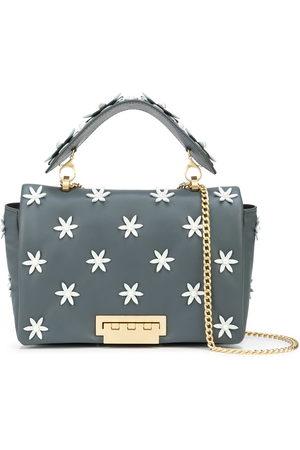 ZAC Zac Posen Women Shoulder Bags - Jumbo floral-appliqué leather shoulder bag