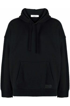 VALENTINO Men Hoodies - Panelled knitted hoodie