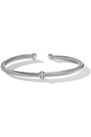 David Yurman Women Bracelets - Sterling 4mm Cable Station diamond bracelet