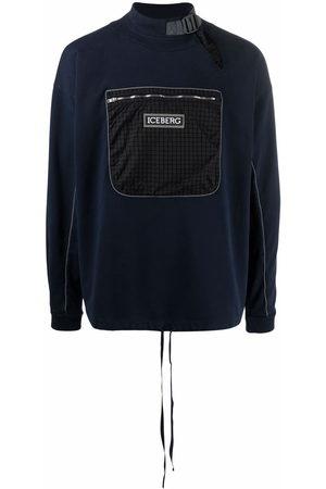 Iceberg Mock-neck chest pocket sweatshirt