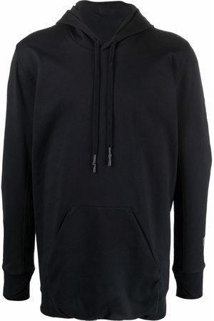 11 BY BORIS BIDJAN SABERI Longline cotton-blend hoodie