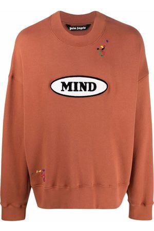 Palm Angels X Missoni embroidered slogan patch sweatshirt