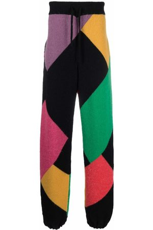 Palm Angels X Missoni Sport colour block knitted track pants