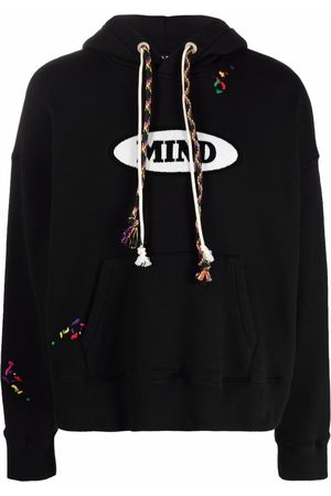 Palm Angels X Missoni Mind graphic logo embroidered hoodie