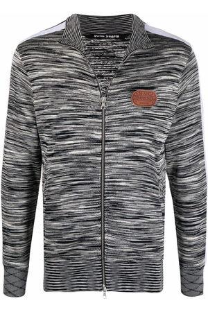 Palm Angels X Missoni melange knit zip-front track jacket