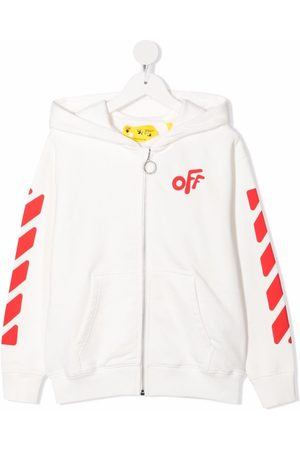 OFF-WHITE Rounded-logo cotton hoodie