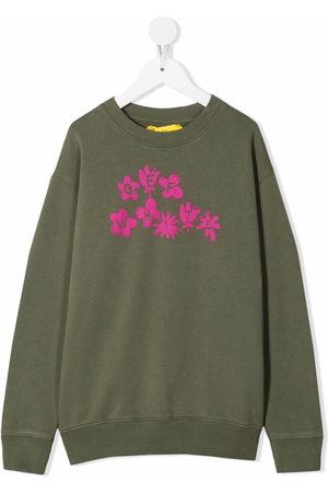 OFF-WHITE Flower logo-print cotton sweatshirt