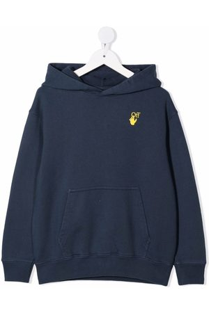 OFF-WHITE Marker logo-print cotton hoodie