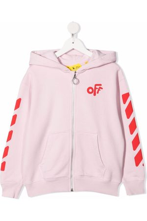 OFF-WHITE Girls Hoodies - Rounded-logo cotton hoodie