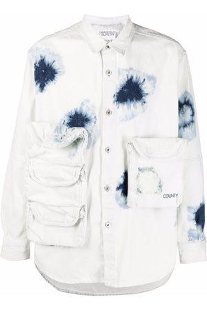 MARCELO BURLON Multi-pocket denim shirt