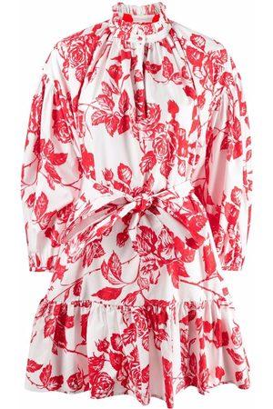 Msgm Floral-print flounce dress