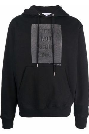 Helmut Lang X Hank Willis slogan-print hoodie