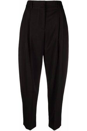 Stella McCartney Gathered-detail tapered trousers