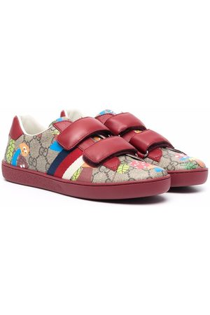 Gucci Kids GG-monogram touch-strap sneakers