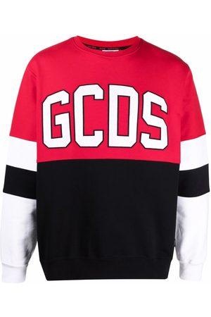 GCDS Men Sweatshirts - Colour-block logo-print sweatshirt