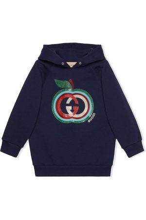 Gucci Girls Hoodies - Apple-print cotton hoodie