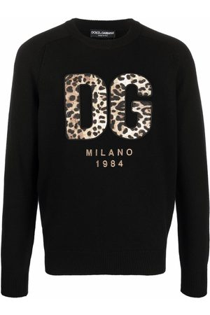 Dolce & Gabbana Logo-patch wool sweatshirt