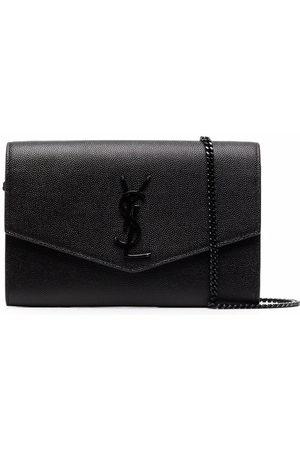 Saint Laurent Women Shoulder Bags - Envelope leather clutch bag