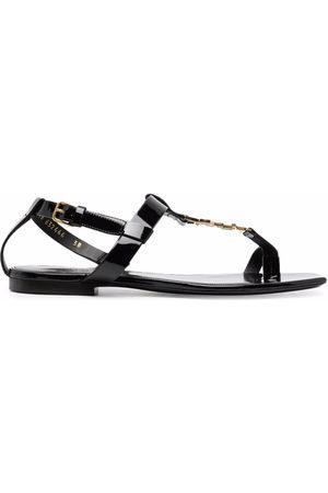 Saint Laurent Women Sandals - Cassandra logo sandals