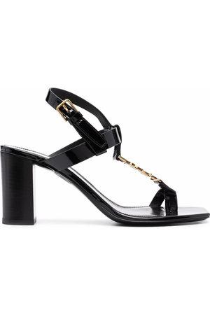 Saint Laurent Women Sandals - Cassandra logo 75mm sandals