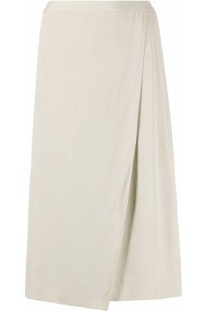 12 STOREEZ High-waisted wrap midi skirt