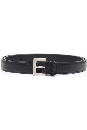 Saint Laurent Women Belts - Logo-plaque buckle belt